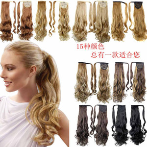 Ponytail Synthetic Hair Clip In Pony Tail Hair Ponytail Wig High Temperature False Hair