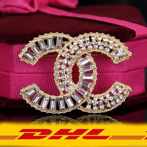 DHL Brooch Gold Pearl Brooch Metal Rhinestone Brooches Zinc Alloy Pin For Women Jewelry New Arrival