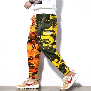 2020 Брюки Весна Мужская Мужская одежда Streetwear Cargo Pants Men Casual Camouflage Брюки Sidepocket Хлопок мужские бегуны