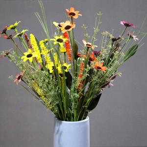 5-teiliges Artificial Gerberas Lavendel Künstliche Kranz Stecklinge Zubehör Garden Country Home Decoration