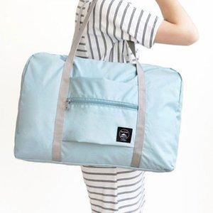 Viajar el tamaño grande plegable bolso del equipaje de almacenaje de la ropa Equipaje de Duffle bolsas sólidos calientes unisex bolsas de viaje