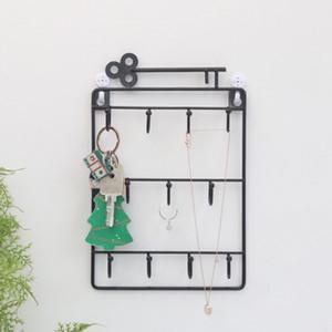 Hierro montado en la pared ganchos 11 Perchas decorativo sostenedor de la llave del metal Escudo Hat Rack decoración del hogar del organizador del almacenaje dominante de la pared Holder