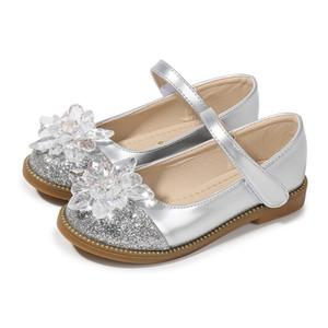 Çocuk Kristal Sandal Steve Kadınlar Düz Loafers Külkedisi Prenses İnci Düğün Çocuk Kız Glitter Rhinestone Çiçek Ayakkabı