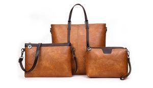 3 piezas Conjunto de los bolsos del bolso de las mujeres diseñador de moda crossbody totalizadores del bolso de hombro del embrague bolsas de Walle