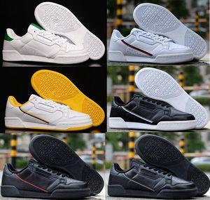 Vente en gros Suede Continental 80 Hommes Casual Low gazelle Noir Entraîneur rouge blanc vert légère respirante Chaussures de randonnée de marche