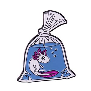 홈 금붕어 수중 수영 브로치 수생 동물의 연인 세련된 컬렉션을 오는 가방 핀에서 홀로 틀