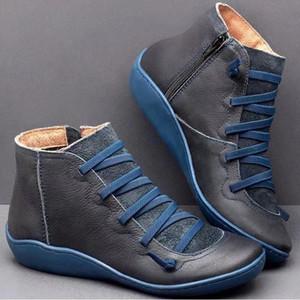 2020 bon marché de haute qualité en cuir Bottes de neige Designer Bottines pour femme d'hiver bottillons Chaussures de course causales Martin Bottes Taille 35-43