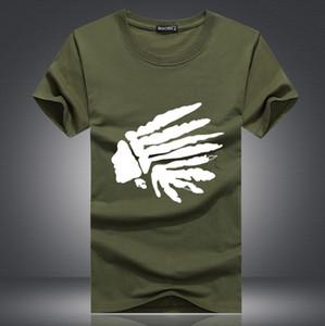 2018 War Horse Marca BIG logo luxo Homens de Verão shirt do desenhista camisetas para homens Moda tee Tops Impresso manga curta roupa 22