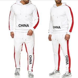 Designerss Tracksuit для Man лучшая версия весна осень MensTracksuits печати Zipper Костюм Tops + кальсоны Mens Casual Спортивные костюмы