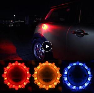 LED voiture d'urgence Lumières fusées éclairantes Avertissement Night Lights routière disque Beacon Rouge Bleu Led police de la route a mené la lumière