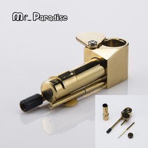 Brass Proto Smoking Hand Pipe Metal Specialty Pipe in Golden Color From China Factory Free DTD Shipping033