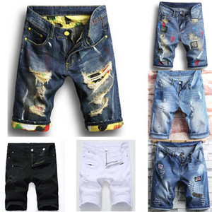 Shorts Jean Denim Causual fashional Distressed Shorts Skate Board Jogger cheville Ripped vague Livraison gratuite
