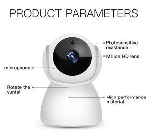 1080P 720P Wifi Caméra de sécurité Accueil Caméra IP avec vision nocturne Rotatif de détection de mouvement Caméra WiFi pour Office Home Baby Monitor V380