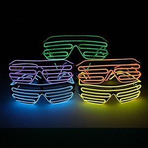 Festa de aniversário Eyewear Costume Rave Partido EL fio LED Óculos Moda flash luminoso Sunglasses Light Up óculos Decor TTA1649