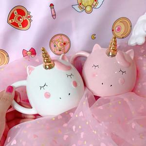 Nuove Coppe Unicorn Cute Cartoon latte del caffè della tazza di ceramica Bambini Acqua Tazze Home Office colazione Ins Mug Drop Shipping