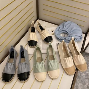 2020 Sandals With Heel Strappy Heels Straw Shoes Women Suit Female Beige Increasing Height Shallow Mouth Flax Slip-on