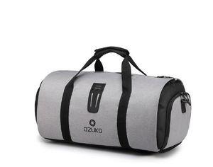 OZUKO Многофункциональной большая емкость Мужчина Дорожная сумка водонепроницаемого сумка Duffle для мешков Маршрутного костюма для хранения ручной клади с обувью мешком