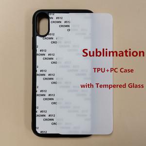 Custom Case DIY personalizou o projeto do telefone de sublimação de vidro temperado para o iPhone 11 Pro Max XS 7 8 Plus Caja del teléfono