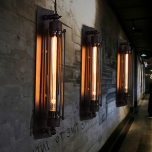 Lâmpada de parede industrial E27 LED Vintage Wall Light Modern Corridor Retro Vintage Led W-filamento luz interior