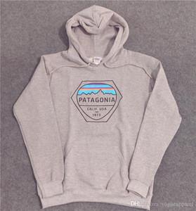 Nuova felpa da uomo firmata Felpe con cappuccio Patagonia High Street Fashion Uomo Felpa invernale con cappuccio grigio caldo