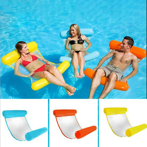 Internet celebrity explosions with net hammock folding double backrest floating row water recreation couch floating bed sofa