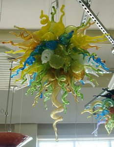 Bunt Flush Mount Deckenleuchten Freie Luftfracht 110v / 120v Herrliche Kunst Lampe aus Muranoglas