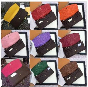 free shpping Wholesale red bottoms lady long wallet multicolor coin purse Card holder box women classic zipper pocket