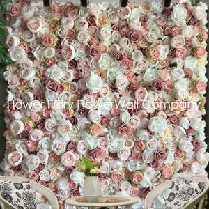 12p جيم / الكثير من 3D الزهور الاصطناعية ديكور لوحة الحائط الزفاف ارتفع جدار الزفاف عداء خلفية الديكورات المنزلية YH1070