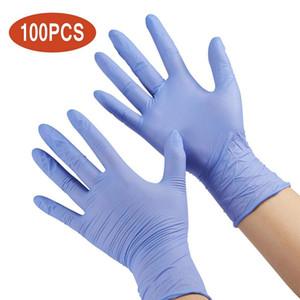 100pcs tek kullanımlık lateks lastik eldiven ev temizlik deney catering eldiven evrensel sol ve sağ