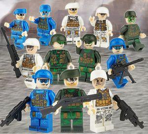 niño de la fuerza militar envío libre bloques de juguete al por mayor fuerza terrestre aérea y la marina rol de juegos para niños 12pcs uno conjunto con arma