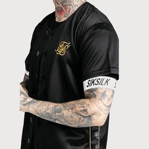 Beyzbol Jersey tişört Hip Hop Erkekler Kadınlar Beyzbol Tee Gömlek Renk Siyah ve Beyaz Pamuklu atletler Tees Artı boyutu M-XXL