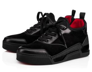 Hot Venda de Alta Qualidade AURELIEN parte inferior vermelha de sapatos para homens da sapatilha Sports sapatos de casamento Plano AURELIEN sapatilhas aniversário