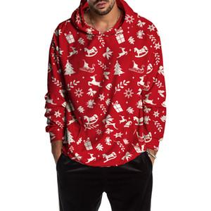2019 새로운 브랜드 겨울 크리스마스 후드 운동복 남성 도착 긴 소매 캐주얼 크리스마스 풀오버 점퍼 스트리트을 따뜻하게 인쇄