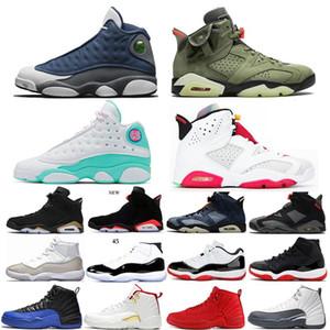 11s hombres zapatos de baloncesto Space Jam 12s 3M reflectante INVERSA Juego de la gripe FIBA 6s Hare 9s Rojo Fuego ENTRENADORES zapatillas deportivas