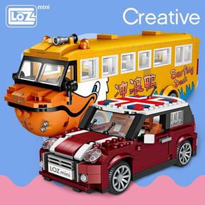 Loz Mini Bloklar Araba Modeli Yapı Taşları Technic Creator Yarışı Araba Montaj Oyuncaklar İçin Çocuk Eğitim Hediyeler Diy Tuğlalar Eğlence Y190606
