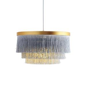 Moderna multi colore della nappa del metallo lampadario luce del pendente del salone della casa decorazione dell'hotel Lamp Fixture PA0599