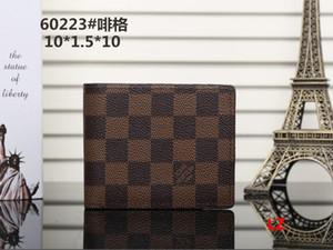 hot Paris xadrez estilo designer mens carteira homens famosos luxo carteiras de couro especial frete grátis múltipla curta pequena bifold carteira