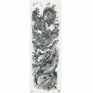 1 Stück Chinesische Totem Wolke Drachen Temporäre Tätowierung Aufkleber Mit Arm Körperkunst Große Hülse Große Gefälschte Tätowierung Aufkleber