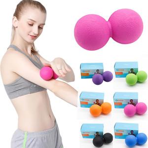 Masaj Topu Kas gevşemesi Fitness Egzersiz Yoga Fıstık Toplar TPE Alınlık Topu Lacrosse Vücut Terapi Masajı Çift Balls 050.418 Relax