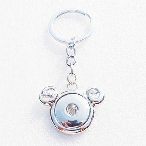 Mode 12 Tierkreiszeichen entstehen Keychain Metall 18mm Druckknöpfe Horoskop-Schlüsselring-Mann-Schmucksachen 12pcs / lot
