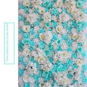 Искусственные розы 40x60cm Индивидуальные цвета Шелковый цветок розы Стена свадебные украшения Фон Искусственный цветок стены Романтический EEA1587