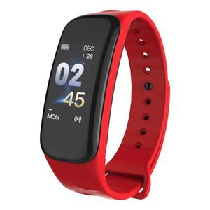Presión DHL C1 inteligente pulsera SpO2 Sangre monitor de ritmo cardíaco para la pantalla Android IOS Color de la pulsera pulsera de Rastreador podómetro