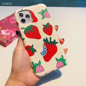 Cute strawberry pattern brand design phone case for iphone 11 11pro max Xs max X Xr 7 7plus 8 8plus 6 6plus hard back cover