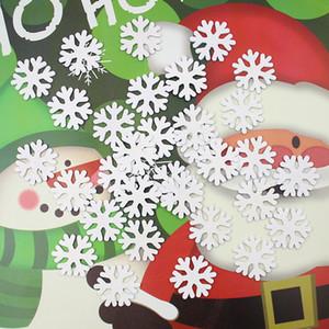 Beyaz Ahşap Kar tanesi Noel Dekorasyon Noel ağacı Süsler Kapalı Açık Süsler Yılbaşı kolye Ücretsiz Kargo XD22347