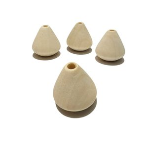 DIY Mordedor De Madeira 23 * 22mm Gotas De Água De Madeira Contas Loose Beads Pingando Contas de Cortina Crianças Handmade Material Frisado