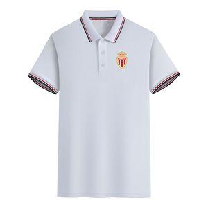 Ассоциация Sportive де Монако футбольный клуб Summer для мужчин Slim Fit Golf Polo Футболка с коротким рукавом Поло Повседневная футболка Спортивная