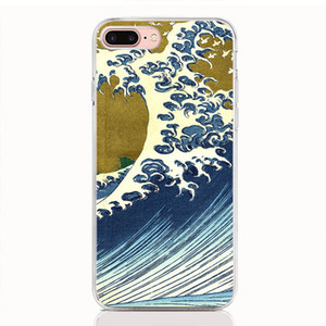 For OPPO F11 Pro F9 F7 Youth F5 F3 F1 Plus F1S Find X Realme 2 pro Reno case soft TPU Print pattern Cartoon Wave Art Japanese phone cases