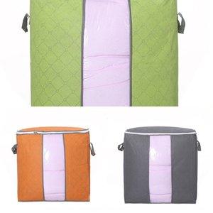 Extra grande colcha multicolor de almacenamiento de carbón de bambú te da bei zi bolsa de almacenamiento de ropa bolsa dai dai edredón