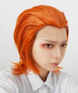 X-Men Raven Darkhomle 짧은 다크 오렌지 가발 HALLOWEEN Cosplay Party Wigs