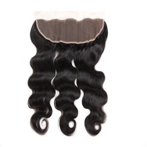 13x4 الأذن إلى الأذن إغلاق الجسم موجة الجسم و مستقيم 100٪ الشعر البشري الرباط أمامي ريمي الشعر إغلاق أسود نقي اللون 8-20 بوصة
